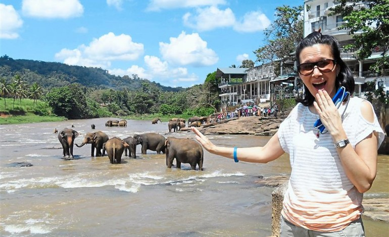 What does actress Deanna Yusoff search for while traveling?