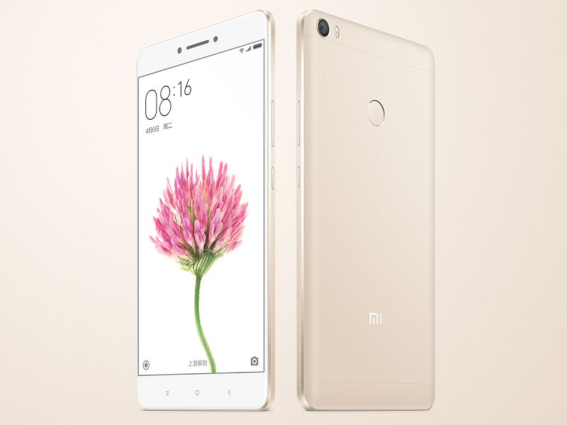 Xiaomi Mi Max With 6.44-Inch display, Fingerprint Sensor released