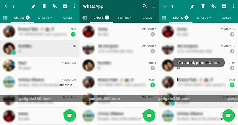 WhatsApp's New Update Allows You to Pin Your Favourite Chats to the Top