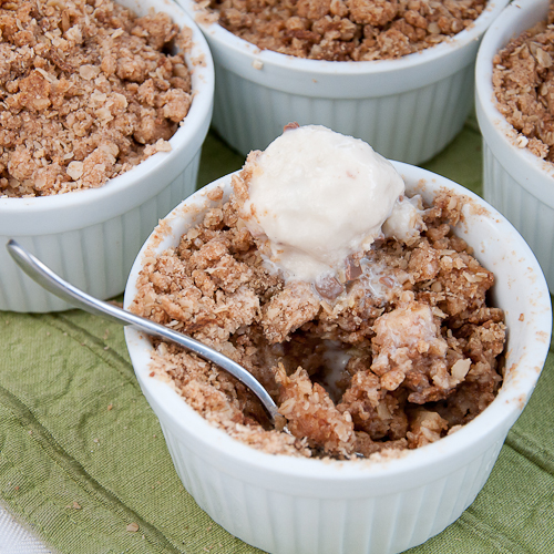 Need a sugary boost? Gorge on this yummy Pear Crumble with ice-cream