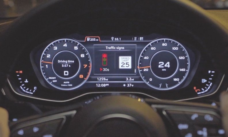 Audi technology helps green light surfers.